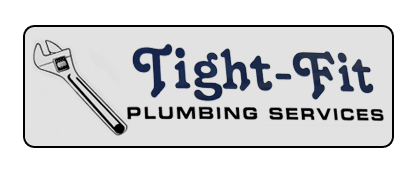 Tight-fit plumbing services logo
